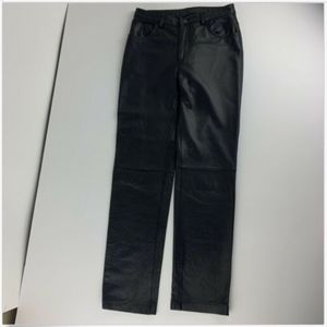 Express Pants - Express Womens 7 / 8 Black Leather Pants Panels